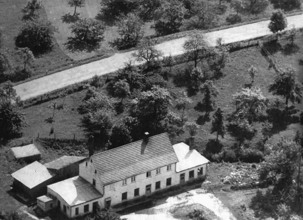 Luftaufnahme des Grundstückes für den neuen Standort in Allmendingen